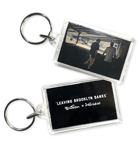 Sue Kwon for Delicious Leaving Brooklyn Banks Key Tag